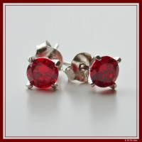 Diamond Earrings red