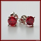 Diamond Earring red